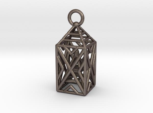 Obelisk Metal in Polished Bronzed Silver Steel