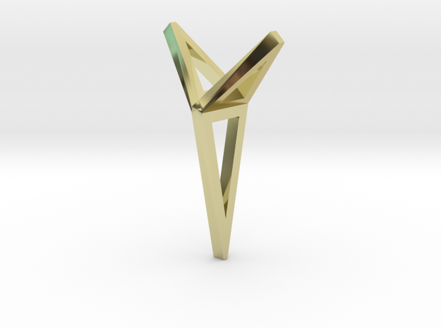 YOUNIVERSAL 3T Origami, Pendant in 18k Gold Plated