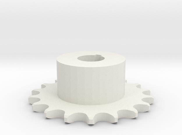 Pignone Per Catena Semplice ISO 04B-1 P6 Z18 in White Natural Versatile Plastic