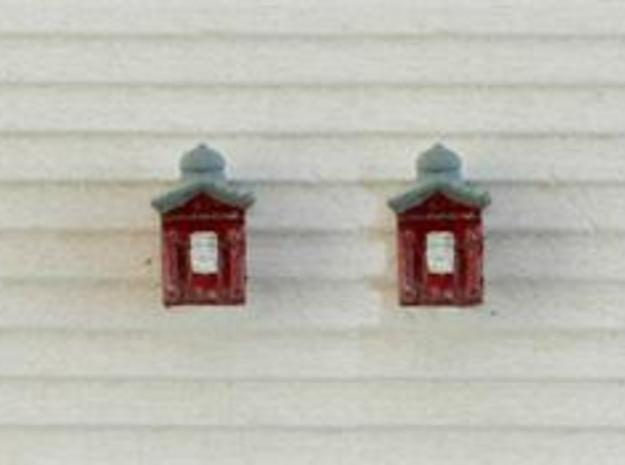 HO Fire Call Box 3 pack for Structures in Frosted Ultra Detail