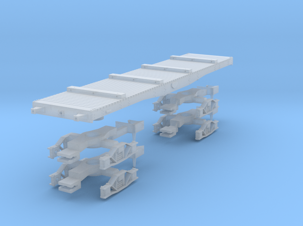 NER Quad bolster wagon kit with bogies in Smoothest Fine Detail Plastic