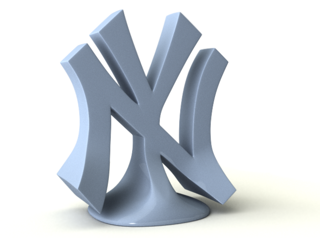NYY in White Natural Versatile Plastic