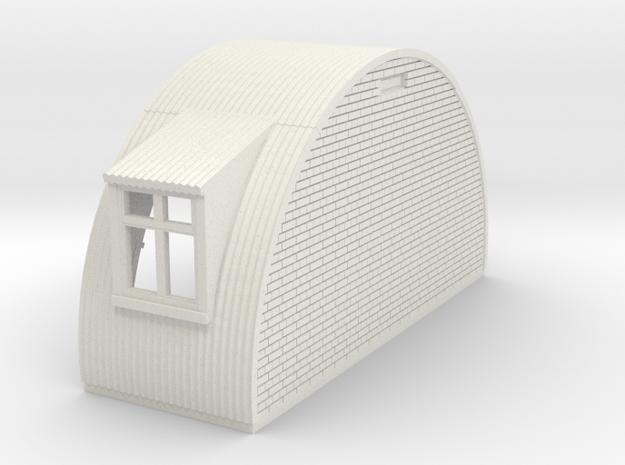 N-87-complete-nissen-hut-end-brick-door-wind-16-36 in White Natural Versatile Plastic