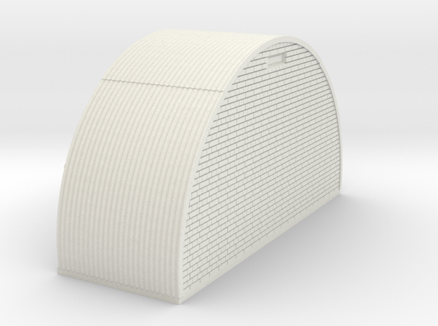 N-87-complete-nissen-hut-end-brick-16-36-1a in White Natural Versatile Plastic