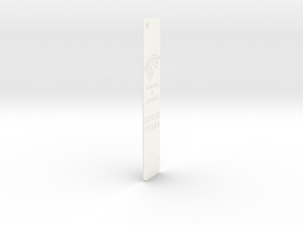 Stark Bookmark in White Processed Versatile Plastic: Medium