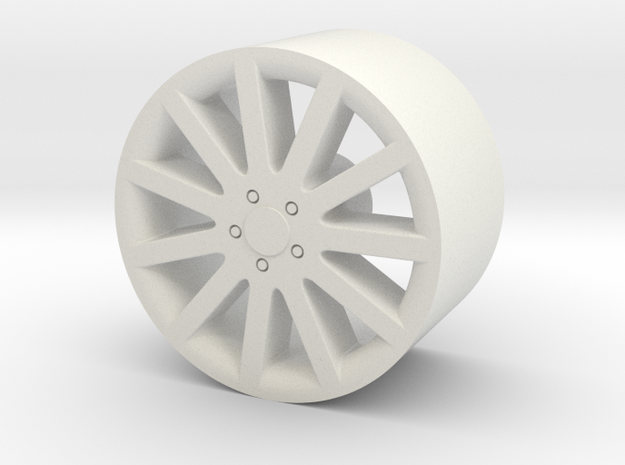 1/24 scale 11-spoke wheel for plastic model cars in White Strong & Flexible