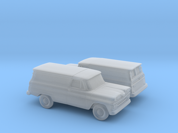 1/160 2X 1960-61 Chevrolet Panel Van in Smooth Fine Detail Plastic