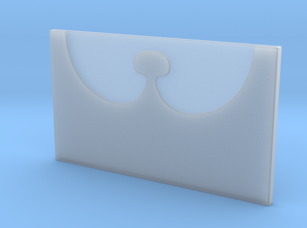 Slim Card Holder in Smooth Fine Detail Plastic