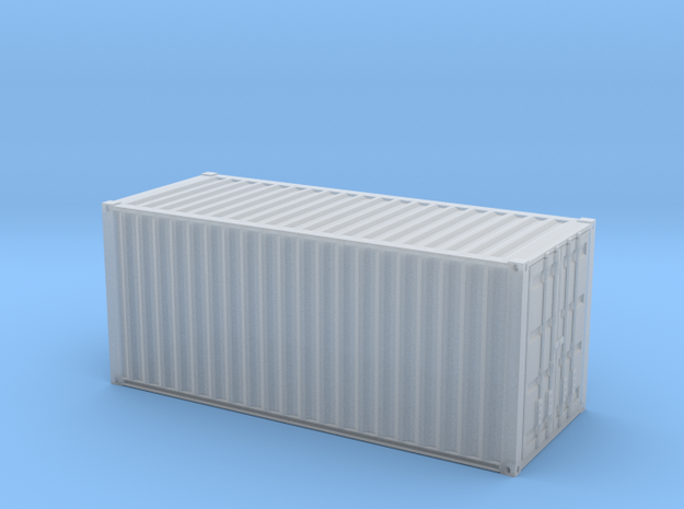 1/72 scale 20 ft Shipping Container ISO in Frosted Ultra Detail: 1:72