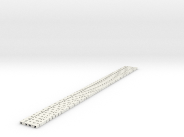 P-165stp-flexi-tram-track-100-pl-x48-1a in White Natural Versatile Plastic