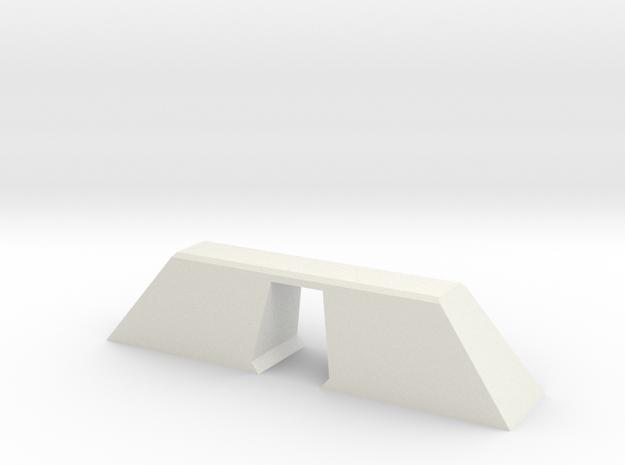N Scale Bridge Modern Single 1:160 in White Natural Versatile Plastic