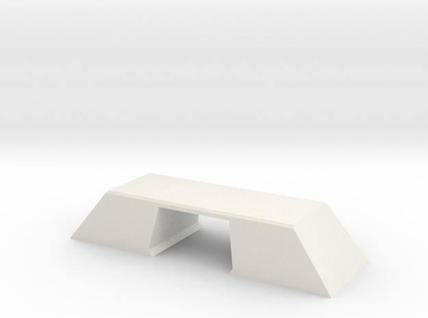 N Scale Bridge Modern Double Double 1:160 in White Natural Versatile Plastic