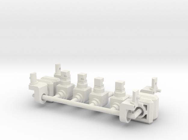 CW Combiner Port to TR Peg in White Natural Versatile Plastic