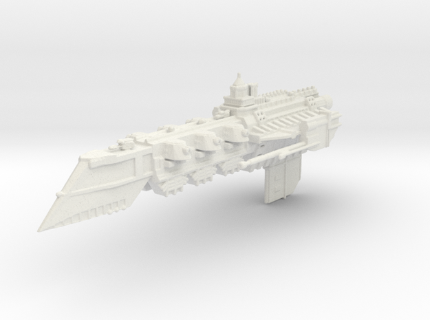 BFG Templar Light Cruiser  in White Strong & Flexible