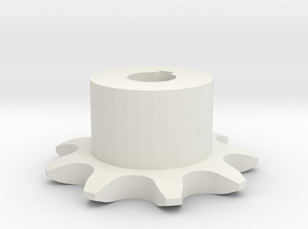 Pignone Per Catena Semplice ISO 05B-1 P8 Z9 in White Natural Versatile Plastic