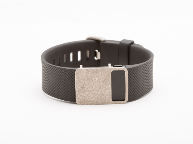 Steel Rasa slide for Fitbit Charge & Charge HR in Polished Nickel Steel