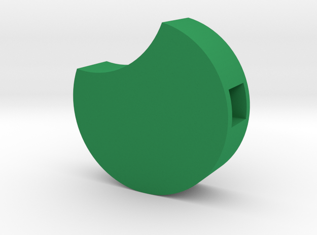 Circlebottom (Green) in Green Strong & Flexible Polished