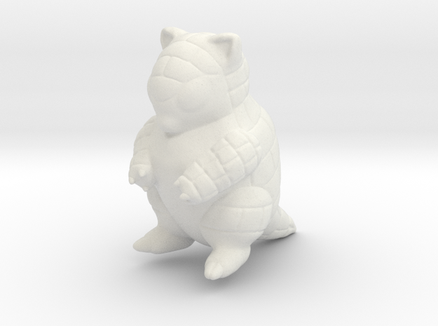 Sandshrew in White Natural Versatile Plastic