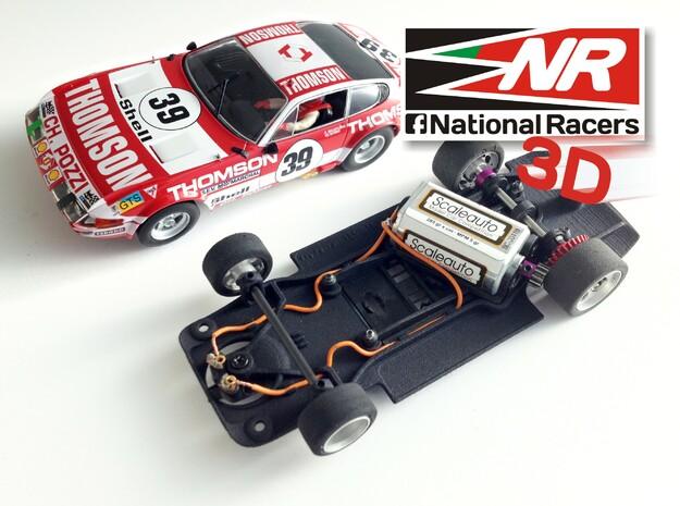 3D chassis - Fly Ferrari 365 GTB (Combo) in Black Natural Versatile Plastic