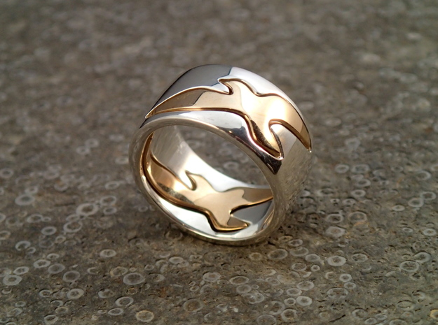 Bird Ring-Sky (Purchase with Bird Ring - Bird) in Polished Silver: 7 / 54