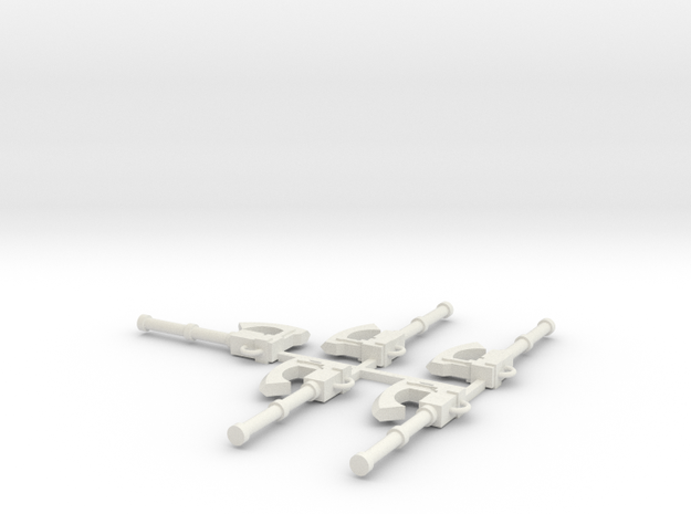 15mm Power Axe x5 in White Strong & Flexible