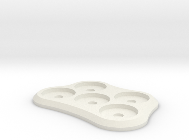 15mm 5-man Mag Tray in White Natural Versatile Plastic