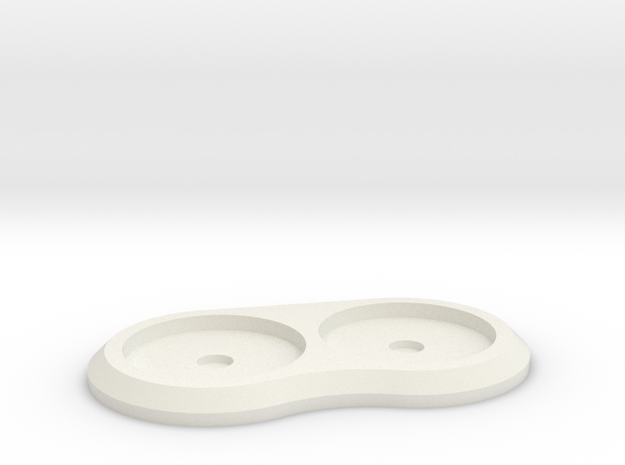 20mm 2-man Mag Tray in White Natural Versatile Plastic