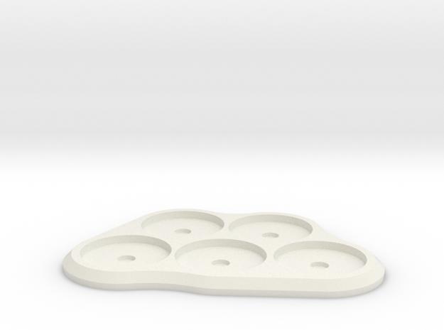 20mm 5-man MagTray in White Natural Versatile Plastic
