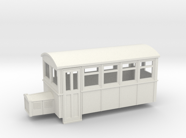TTn3 4 wheeled railbus version 2  in White Natural Versatile Plastic