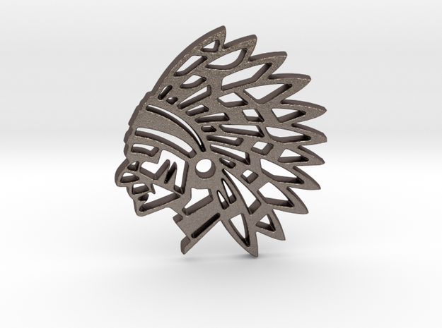 The Chief in Polished Bronzed Silver Steel