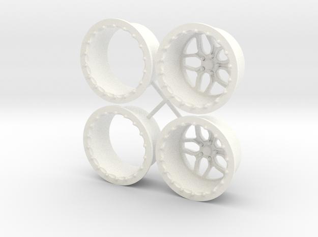 Billet Specialties Win Lite Rear Pair 1/12 in White Processed Versatile Plastic