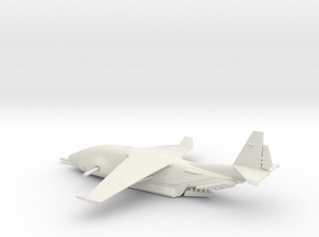 Zues C-135 warplane (small) in White Natural Versatile Plastic