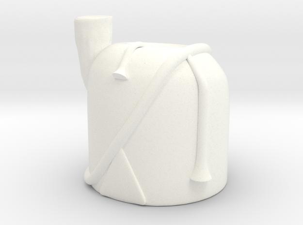 1 x Bearskin in White Processed Versatile Plastic