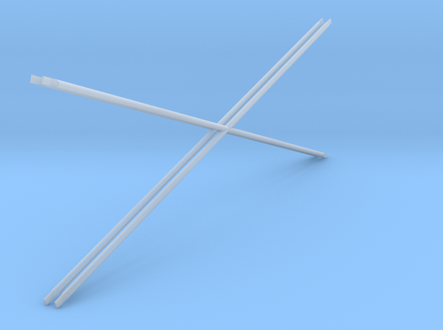 1:24 Diag Crossbars 84x28 in Smooth Fine Detail Plastic