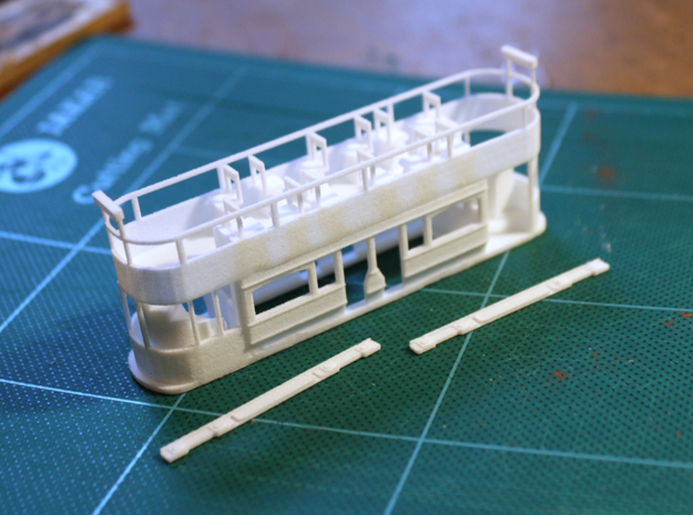Eastbourne Tramway Car 6 in White Strong & Flexible