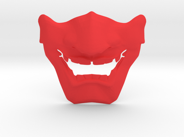 SamuraI Mask V1 Style  in Red Strong & Flexible Polished