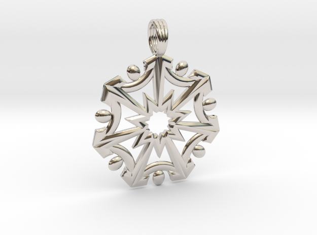 SEVEN SISTERS OF LIGHT in Rhodium Plated