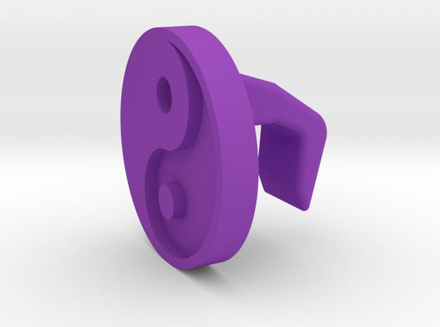 iMac Camera Cover - Yin Yang in Purple Processed Versatile Plastic