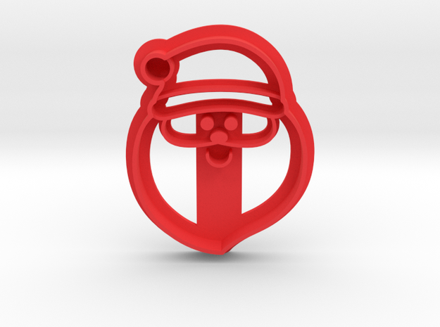 Santa Cookie Cutter in Red Strong & Flexible Polished