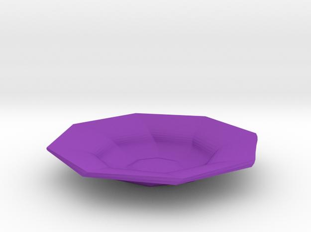 Sharp edges plate in Purple Processed Versatile Plastic