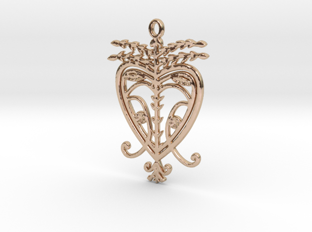 Erzulie Freda V2 Pendant in 14k Rose Gold
