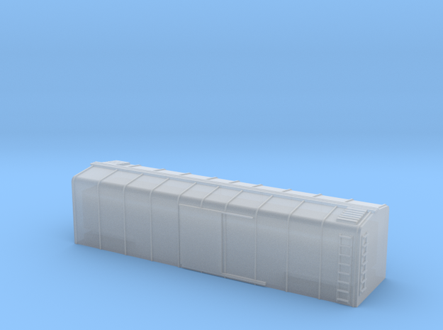 1/220 US Wagontop Boxcar in Smooth Fine Detail Plastic