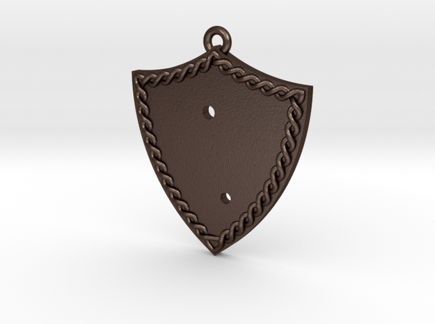 Bleeding Rose Shield - Piece 1 of 2 in Matte Bronze Steel