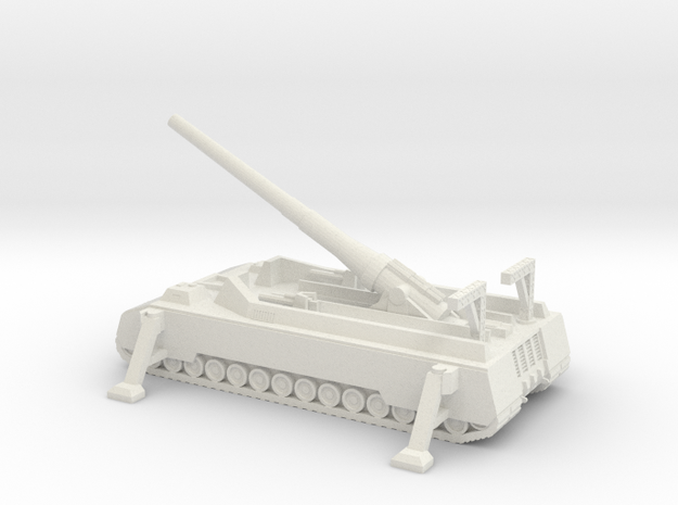 1/300 Scale P1500 Long Range Gun in White Strong & Flexible