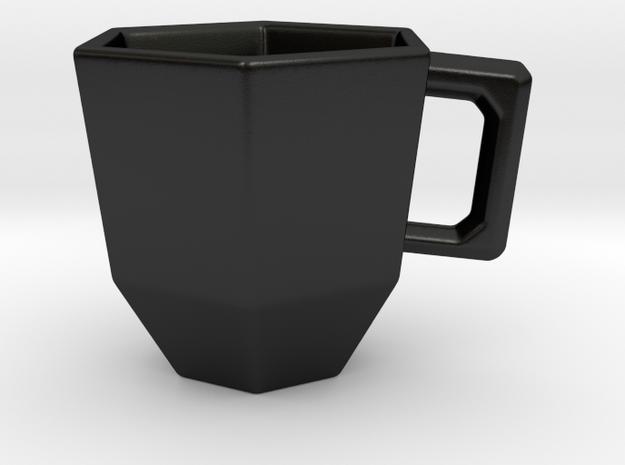 Hex-a-Mug in Matte Black Porcelain