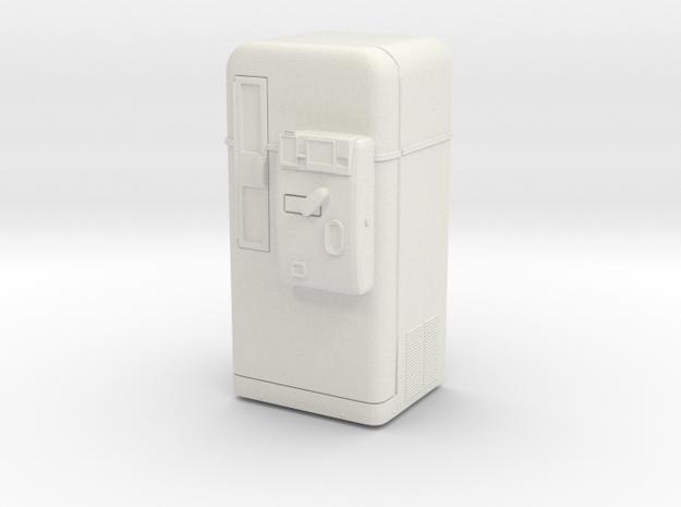 Vintage vending machine 01.  1:22 Scale in White Natural Versatile Plastic