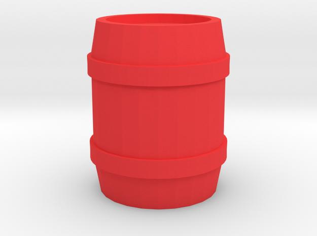Barrel Thimble in Red Processed Versatile Plastic