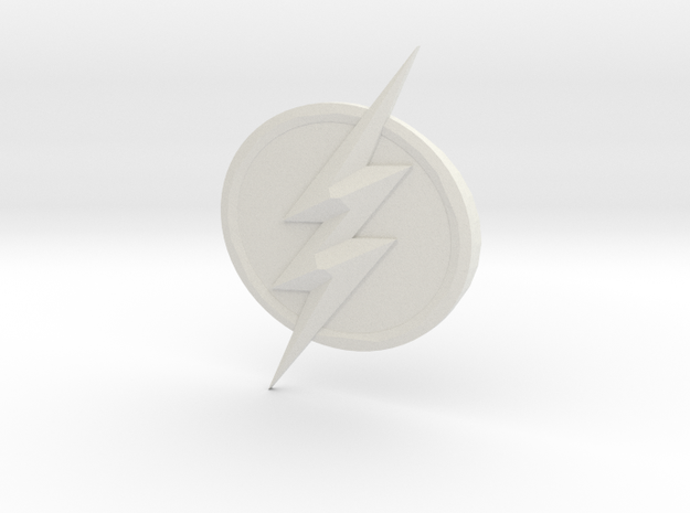 The Flash Emblem in White Strong & Flexible: Medium