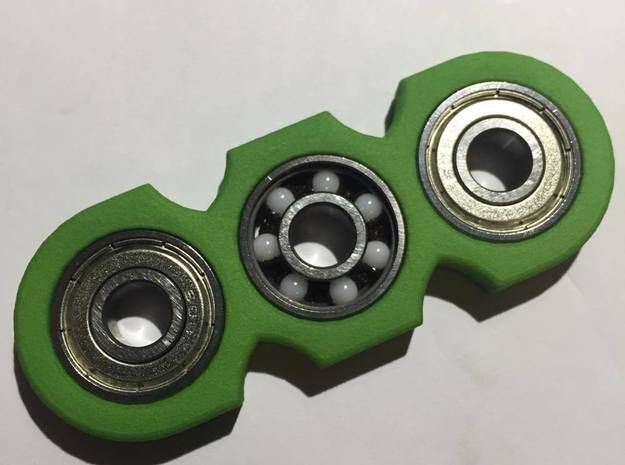 Fidget Spinner in Green Strong & Flexible Polished