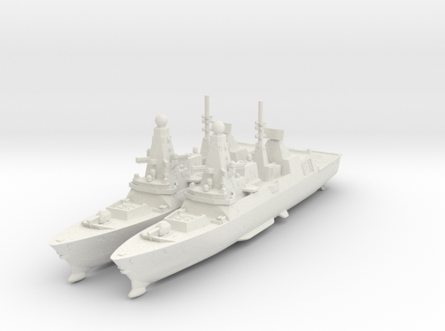 1:1800 - Type 45 Daring Class [x2] in White Strong & Flexible